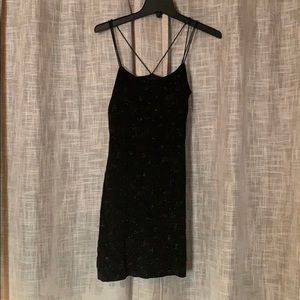 Black shimmery fitted dress